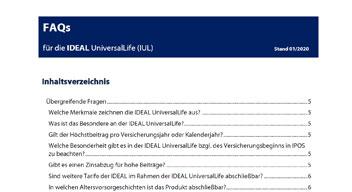 Bild der FAQs für die IDEAL UniversalLife