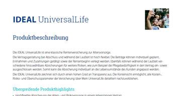 Cover der Produktbeschreibung für die IDEAL UniversalLife